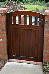 Arched top garden gate with openings