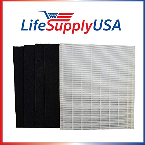 Review Of LifeSupplyUSA 2 Replacement HEPA, 8 Carbon Pre-Filters Compatible with Size 25 Winix P450 ...