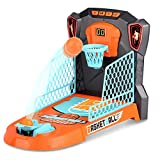 Kzm Finger Basketball Shooting Game Toy, Desktop Table Basketball Games Set with Basketball Court, Move Basket, Light and Score Fun Sports Novelty Toy for Stress Relief Killing Time
