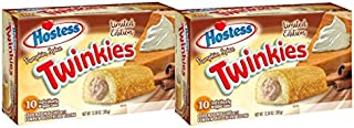 Hostess Twinkies Pumpkin Spice 2 Pack (10 count box, 20 Twinkies Total)
