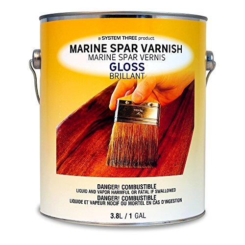System Three 1850S24 Clear Marine Spar Urethane Varnish...