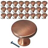 (25 Pack, Knob) Swiss Kelly Antique Copper Kitchen Cabinet Knobs Dresser