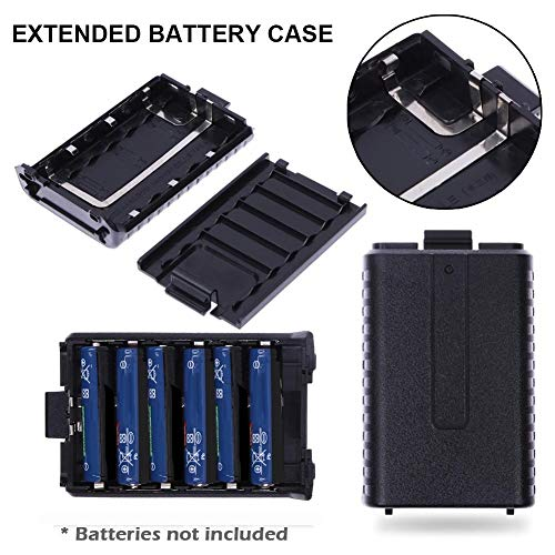 Battery Organizer Battery Case Battery Box C-6 AAA Extended Battery Case Storage Box for Baofeng UV5R 5RA B C D 5RE Plus Two Way Radio