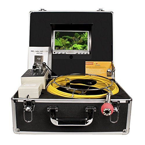 Pipe Inspection Camera, Drain Sewer Industrial Endoscope Anysun PIC-30DVR Waterproof IP68 30M/100ft Snake Video System with 7 Inch LCD Monitor 1000TVL Sony CCD DVR Recorder (8GB SD Card Include)