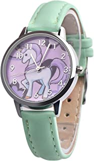 RONSHIN Fashion Accessories Woman Girls Cartoon Quartz Watch Adjustable Leather Bracelet Animal Wristwatches Gifts for Children