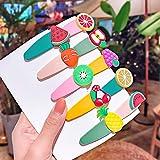 Clip para el pelo niñas dibujos animados unicornio helado colorido pelo alfileres de caramelo bandana barrettes accesorios para el cabello 20 unids/set