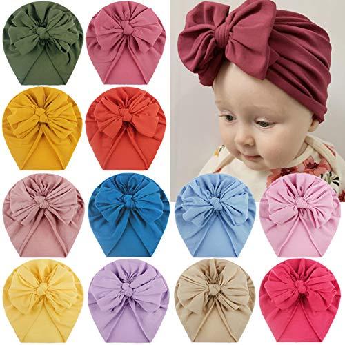 Goosuny Mütze Hut Baby Stirnbänder Neugeborene Mädchen Elastische Haarband Turban Kleinkind Stirnband Haar Bogen Fliege Schleife Haarreifen Head Wrap