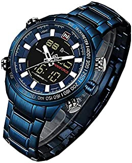 DUAL DISPLAY WATCH- HEAVY BLUE