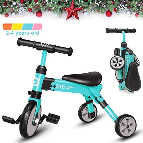 XJD 2 en 1 Vélo Bébé Tricycle Enfants de 2-4 Ans Draisienne Fille garçons Premier Vélo Pliable...