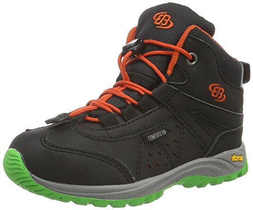 EB kids RIVERSIDE, Unisex-Kinder Trekking- & Wanderstiefel, Schwarz (schwarz/orange), 40 EU (5.5 Kinder UK)