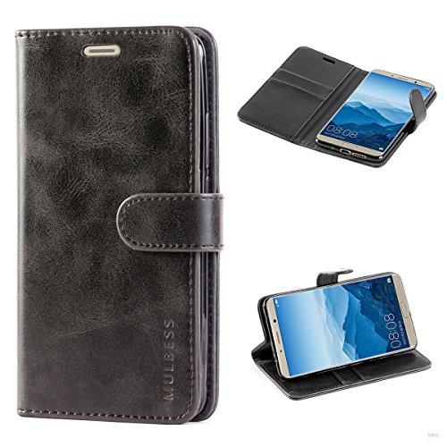 Handyhülle für Huawei Mate 10 Hülle, Leder Flip Case Schutzhülle für Huawei Mate 10 Tasche, Schwarz