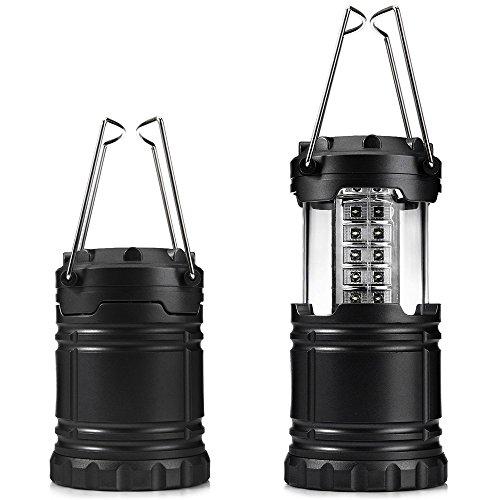 Ultra Lumineux D'extérieur 30 Led Lanterne de Camping Pliable Convient pour Pannes de Randonnée Hurricanes Urgences - Extrémités Supérieure et Inférieure et Lentilles Réfléchissant