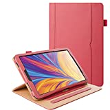 ZoneFoker Galaxy Tab A 10.1 inch 2019 Tablet Leather Case, 360 Protection Multi-Angle Viewing Folio Stand Cases with Pencil Holder for Samsung Galaxy Tab A 10.1 SM-T510/SM-T515 - Red