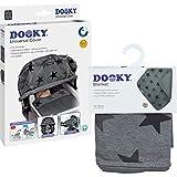 Dooky 3126203 Combi Pack Couverture & Couverture au design gris avec motif étoiles Protection solaire universelle et protection contre les intempéries pour nacelle, poussette et poussette, gris, 800 g