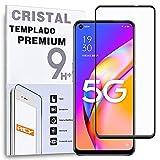 Protector de Pantalla Curvo para OPPO A93 5G - A54 5G - REALME Q3 5G - REALME Q3i 5G, Negro, Cristal Vidrio Templado Premium, 3D / 4D / 5D, Anti Roturas