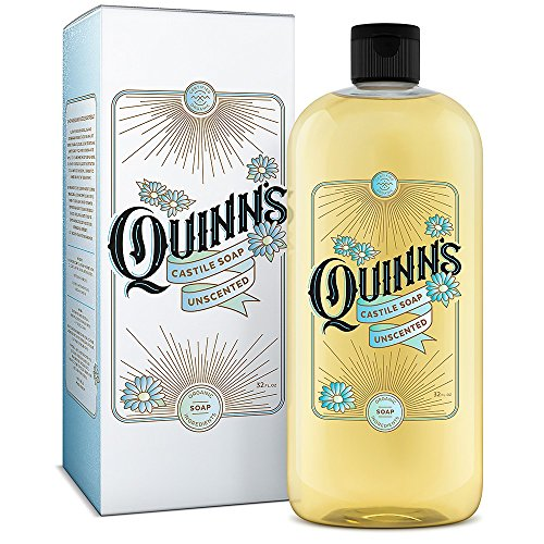 Quinn's Pure Castile Organic Liquid Soap – Unscented – 32 oz.