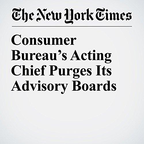 Consumer Bureau's Acting Chief Purges Its Advisory Boards copertina