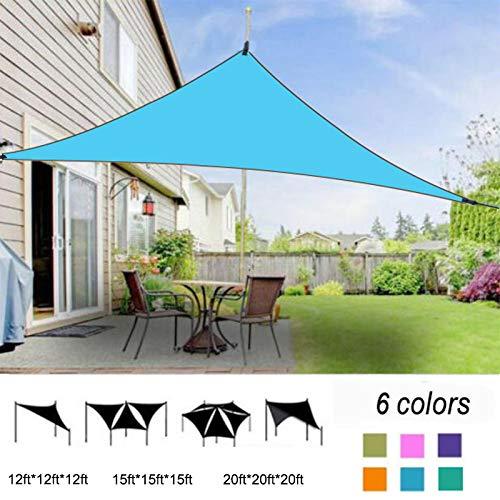 ERTYUI Dreiecks-Sonnensegel, rechteckig, UV-Schutz, Baldachin, Terrasse, wasserdicht, für den Außenbereich, dreieckig, regendicht, sonnenfest, dunkelgrün, 12ft*12ft*12ft