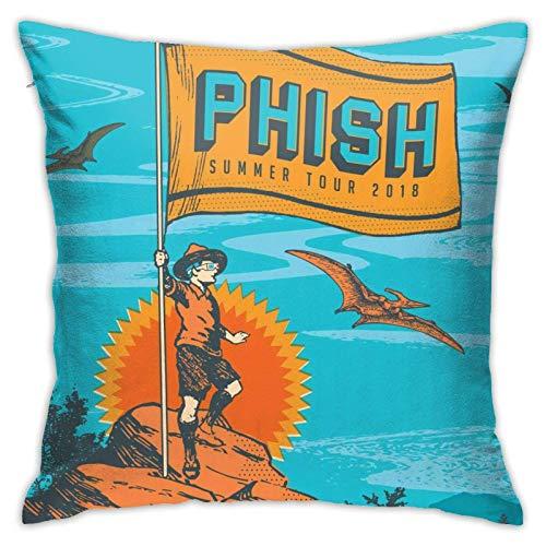 Haiyou Phish Announce 2020 Summer Tour - Funda de cojín de poliéster, fundas de almohada para sofá, decoración del hogar, 18 x 18 pulgadas