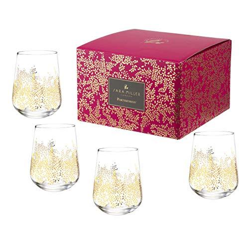 Portmeirion Home & Gifts wijnglas zonder steel S/4, glas