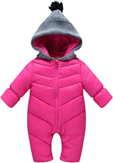 dd5198a5cbb5 6 · Uobzyaq Baby Boys Girls Hooded One-Piece Puffer Winter Down Snowsuit  Jumpsuit Overcoat