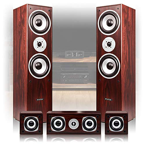 Fenton 5.0 Walnut Surround Sound System Home Cinema House Party Hi-Fi Spea.