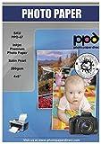 """PPD 10 x 15 cm (4 x 6"""") Papel Fotográfico Satinado Perlado Súper Premium Para Tarjetas (280 g/m2, 50 Hojas, Inkjet) - PPD-67-50"""