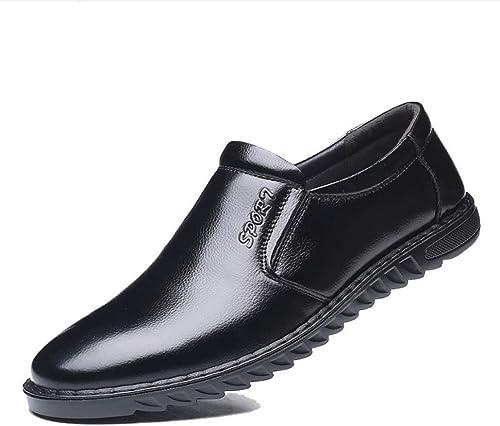 JIUJIUYITECH Hommes Mocassins Chaussures Confortable Confortable Confortable en Cuir PU PU Chaussures De Travail des Affaires Chaussures Homme élégant a3e