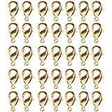 Cierres de Langosta,100 Piezas de Aleación Cierres de Pinza de Langosta para Hacer Joyas Artesanales DIY Collar Pulsera Resultados(Dorado 10 mm)
