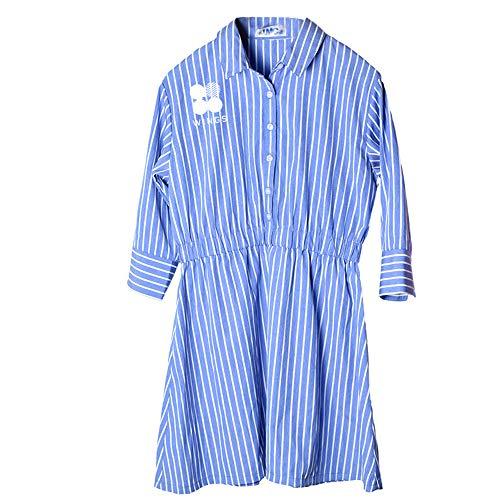 BESTHOO BTS Personalisiertes Kleid Sommer kugelsichere Jugendgruppe Kombination Persönlichkeit gedruckt Hemd gestreiftes Kleid OL süß und schön wild Sommer für Frauen konzipiert