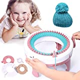 SEAAN Knitting Machine,48 Needle Knitting Craft Machine,Crochet Machine for Sock & Hat & Scarf, Knitting & Crochet Supplies