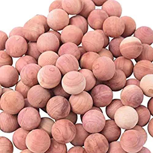 Tiamu Cedar Balls for Clothes Storages, Red Cedar Blocks for Clothes Storage 100PCs with 3X Satin Bags