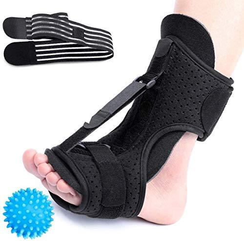CHARMINER Plantar Fasciitis Night Splint Foot Drop Orthotic Brace, Adjustable Elastic Dorsal Splint, Effective Relief from Plantar Fasciitis Pain, Heel, Arch Foot Pain
