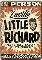 Little Richard in Concert Concert Flyer ティンサイン ポスター ン サイン プレート ブリキ看板 ホーム バーために