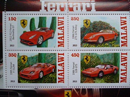 マラウイ『フェラーリ』4枚シートB