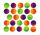 SNInc. ICY Super Balls - 32mm Vibrant Two Tone Color Bouncy Balls 24 Pack