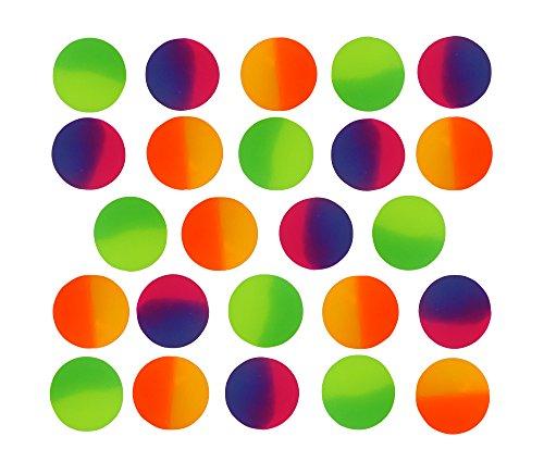 SNInc. ICY Super Balls - 32mm Vibrant Two Tone Color Bouncy Balls 24 Pack
