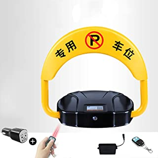 MORN Private Parking Space Lock, Automatic Barrier Alarmed Carport Tool, Parking Bollards, with 20M Remote Controller Electronic
