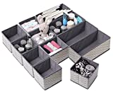 Drawer Organisers, Wardrobe Dividers, Set of 12 Fabric Closet Organiser, Foldable Storage Boxes To Tidy Drawers, Office, Bra, Underwear, Tie, Socks, Bedroom, Collapsible Organizer For Clothes Makeup