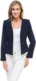 Women's Candy Color Tailored Fit Open Suit Jacket Blazer