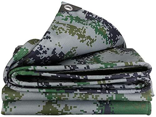 Waterdicht op zwaar werk berekend geteerd zeildoek Buiten verdikt camouflagevrachtwagenzeil geteerd zeildoek jungle zonnescherm vizier PVC Oxford canvas, verschillende maten voor autotuin dak camouflagetent