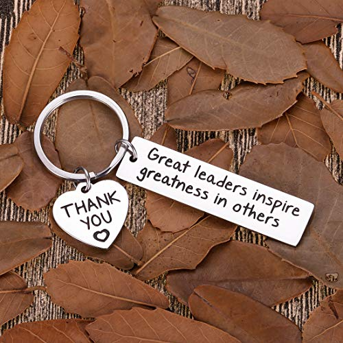 Leaders Boss Appreciation Gifts Keychain for Christmas Men Women Office Gifts for PM Supervisor Mentor Leader Birthday Thank You Leaving Going Away Gifts Retirement Coworker Boss Day Presents
