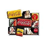 Nostalgic-Art Juego de Imanes Retro Coca-Cola – Yellow – Regalo Aficionados a la Coke, Decoración para la Nevera, Diseño Vintage, 9 Unidades
