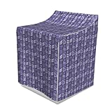 Lunarable Funky Washer Cover, Pattern with Geometric Forms Quirky Aztec Bohemian Graphic Print, Washroom Decor with Dust Protection, 29' x 28' x 40', Plum Mauve and Dark Purple