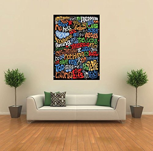 Doppelganger33 LTD Imagine- John Lennon Lyrics New Giant Art Print Poster Picture Wall G365