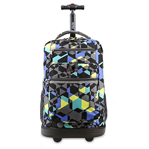 J World New York Sundance Laptop Rolling Backpack, Cubes, One Size