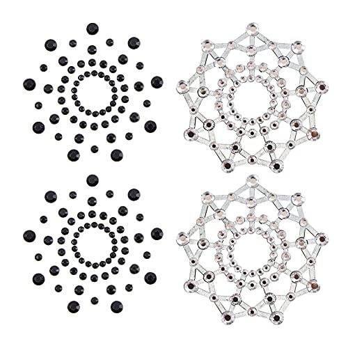 F Fityle Confezione Da 8 Gemme di Strass, Copricapezzoli, Adesivi per Gioielli in Cristallo per Decorazioni di Festival