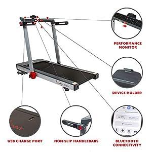 Sunny Health & Fitness Auto Incline Treadmill - SF-T7951,Gray