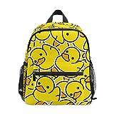 Mini sac à dos d'école, sac à livres pour garçons et filles, motif canard mignon jaune