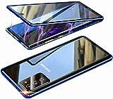 Funda para Samsung Galaxy S20 FE,Protección 360 Grados antigolpes Carcasa[protección Objetivo de la cámara],Adsorción magnética de Metal Case,Súper Delgada Transparente Cover,Azul